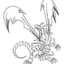 Desenho do Dragão Negro de Olhos Vermelhos para colorir
