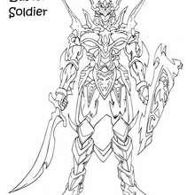 Desenho do Soldado do Lustro Negro para colorir