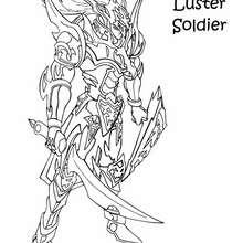 Desenho da carta rara do Soldado do Lustro Negro para colorir