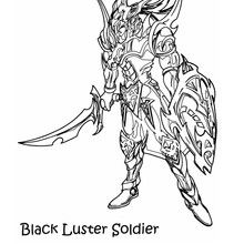 Desenho do Soldado do Lustro Negro com sua armadura para colorir