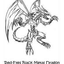 Desenho do Dragão Negro de Metal de Olhos Vermelhos para colorir