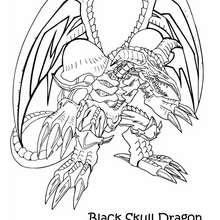 Desenho do Dragão Caveira Negro para colorir online