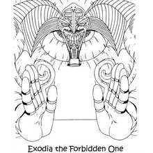Desenho do Exodia para colorir