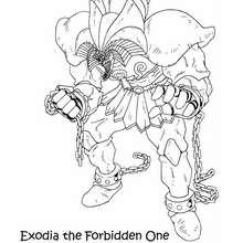 Desenho do Exodia para colorir online
