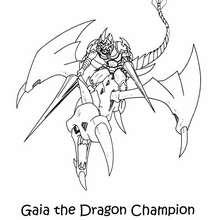 Desenho do Gaia, O Matador de Dragões para colorir