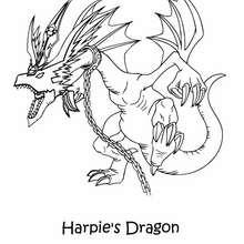 Desenho do Dragão Mascote da Harpia para colorir