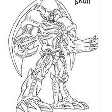 Desenho do Rei Caveira para colorir
