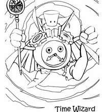 Desenho do Mago do Tempo para colorir