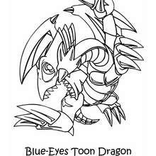 Desenho do Dragão Branco de Olhos Azuis para colorir