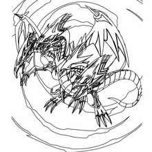 Desenho do Dragão Branco de Olhos Azuis para colorir online