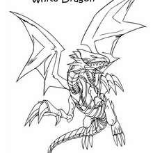 Desenho do Dragão Branco para colorir