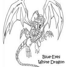 Desenho do poderoso Dragão Branco de Olhos Azuis para colorir