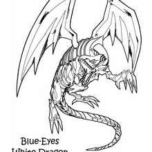 Desenho do poderoso Dragão Branco para colorir