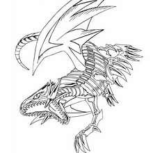 Desenho do poderoso Dragão Branco para colorir online
