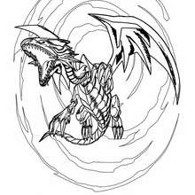 Desenho do lendário Dragão Branco de Olhos Azuis para colorir