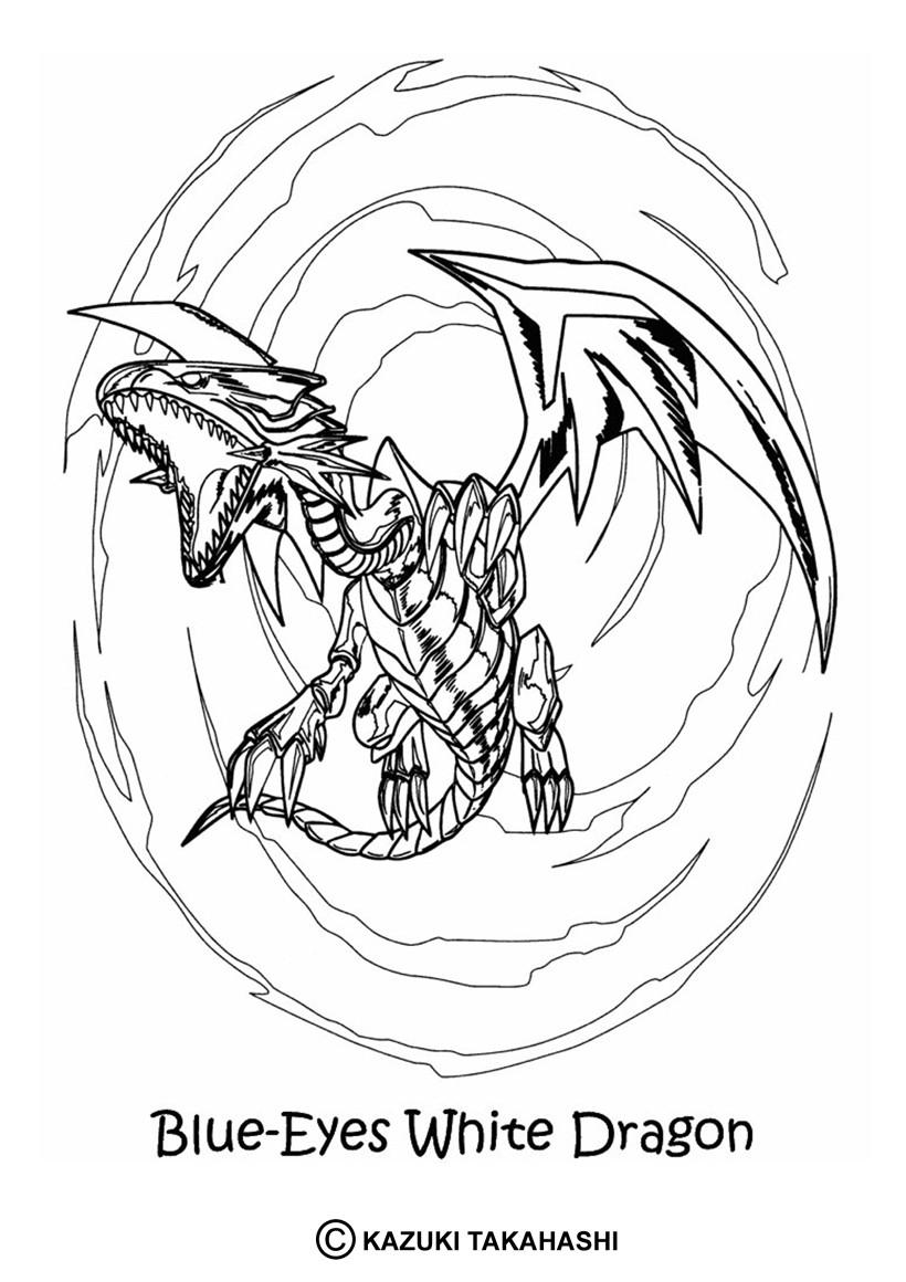 Desenhos Para Colorir De Desenho Do Lendario Dragao Branco De