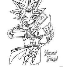 Desenho do Yami Yugi para colorir