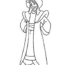Desenho do Aladdin para colorir