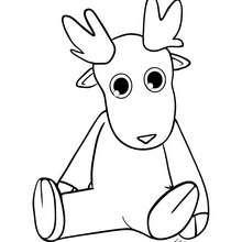 Desenho da rena Corredora  para colorir