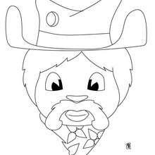 Retrato de um Cowboy  para colorir