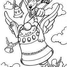 Desenho de um coelhinho maluco para colorir