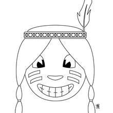 Dia de Ação de Graças, Retrato de um índio para colorir