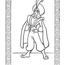 Desenho do Príncipe Ali para colorir