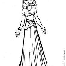 Desenho de um vestido simples para colorir