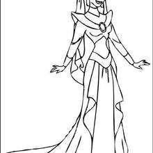 Princesa Jasmin para colorir