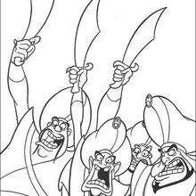 Desenho do Sultão com seus soldados para colorir