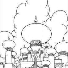 Desenho do Palácio para colorir