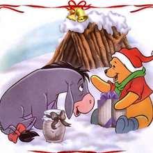 Papél de parede: O Ursinho Pooh no Natal