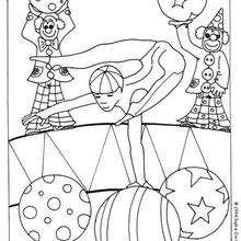 Desenho de um Acrobata para colorir