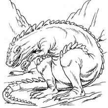 Desenho de um Anquilossauro medonho para colorir