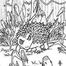 Desenho de um Anquilossauro para colorir