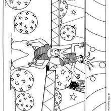 Desenho de um Acrobata com balões para colorir
