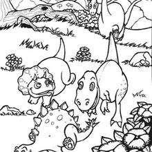 Bebês dinossauros para colorir : estegossauro, tiranossauro ...