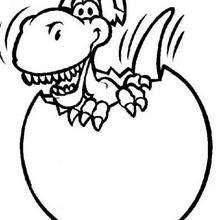 Desenho de um bebê tiranossauro para colorir