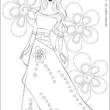 Desenho da Princesa Barbie para colorir