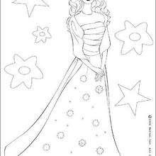 Desenho da Barbie, a estrela para colorir