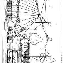 Desenho de uma tenda de circo para imprimir