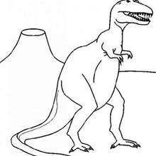 Desenho de um Tiranossauro enorme para colorir