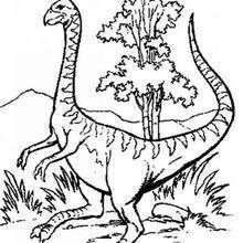 Desenho de um dinossauro esquisito o para colorir