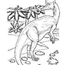 Desenho de um Braquiossauro para colorir