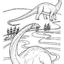 Braquiossauros para colorir