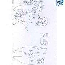 Desenho de Cáries para colorir