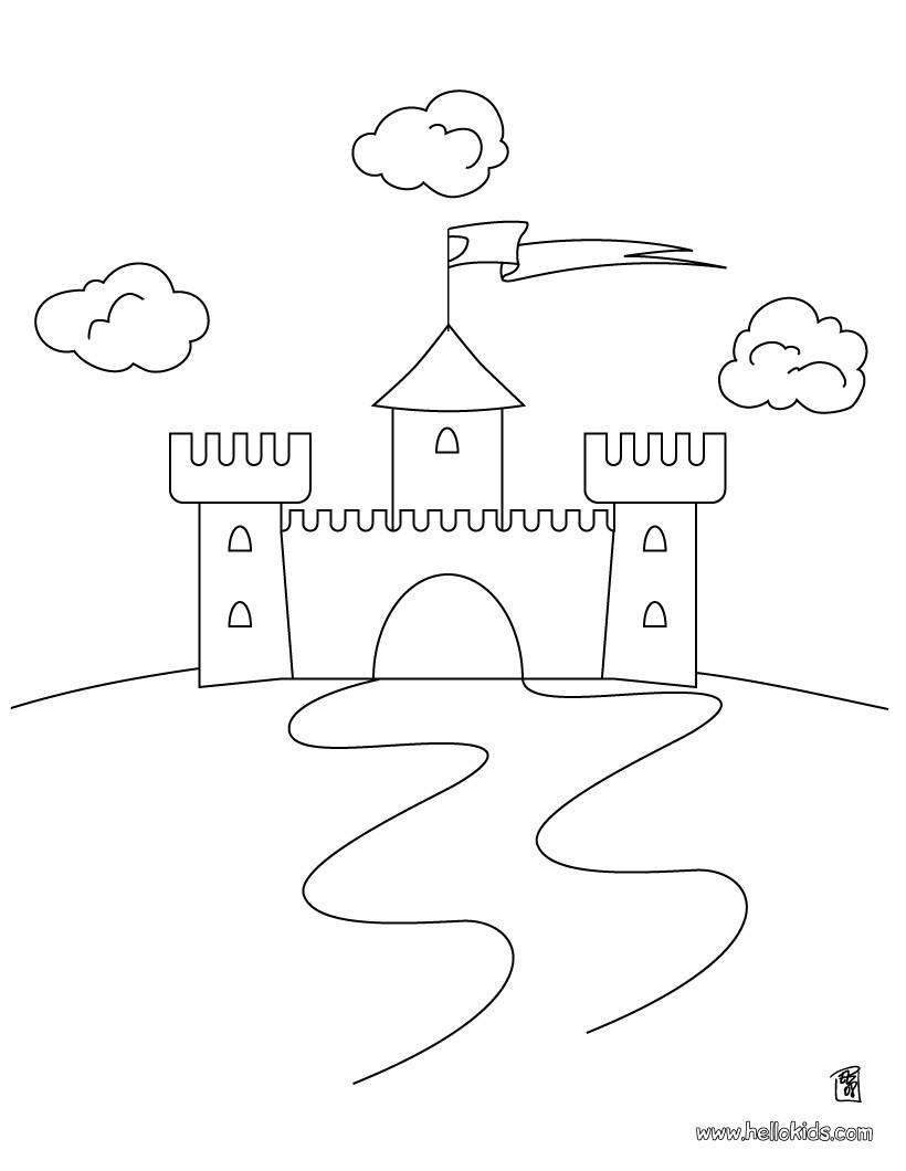 Desenho de Castelos para colorir