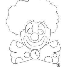 Desenho de um palhaço para colorir online