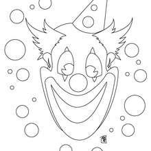 Desenho de um palhaço feliz para colorir