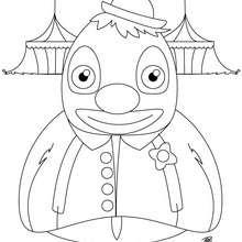 Desenho de um palhaço gorducho para colorir